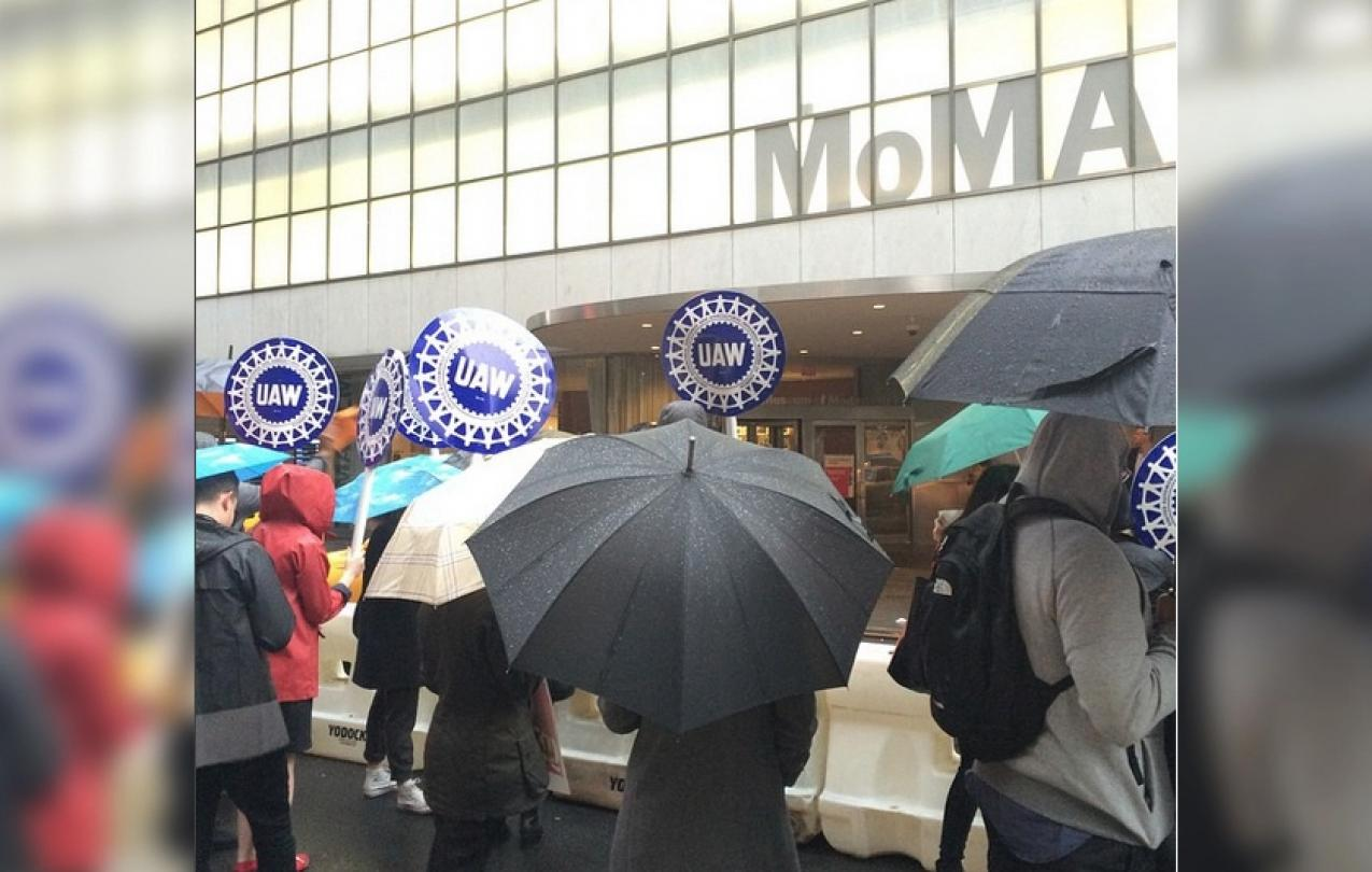 MoMA Members Marching in the Rain